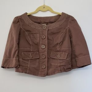 Adorable boxy cropped anthropologie jacket